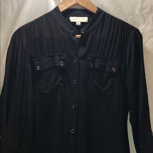 Jones New York | collarless button up blouse